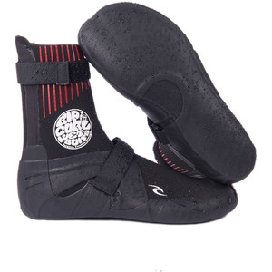 2021 Rip Curl Flashbomb 5mm Round Toe Wetsuit Boots WBOYCF - Black