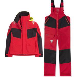 2021 Musto Mens BR2 Coastal Jacket & Trouser Combi Set - True Red