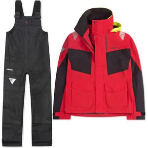 2021 Musto Womens BR2 Coastal Jacket & BR1 Trouser Combi Set - Red / Black