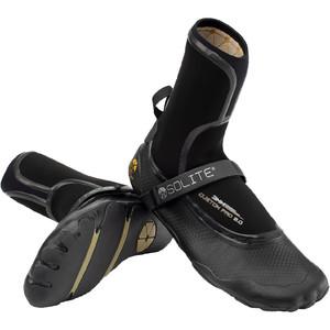2021 Solite Custom Pro 2.0 3mm Wetsuit Boots 21001 - Black / Gum