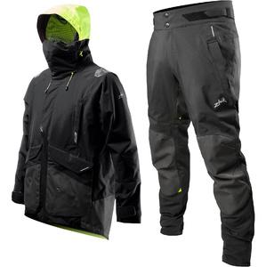2020 Zhik Mens Apex Offshore Sailing Jacket & Trouser Combi Set - Anthracite Black