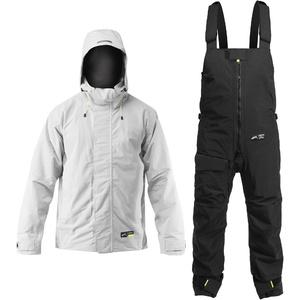 Zhik Mens Kiama Jacket & Trouser Combi Set - Ash / Black