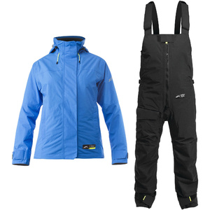 2020 Zhik Womens Kiama Sailing Jacket & Trouser Combi Set - Cyan / Black