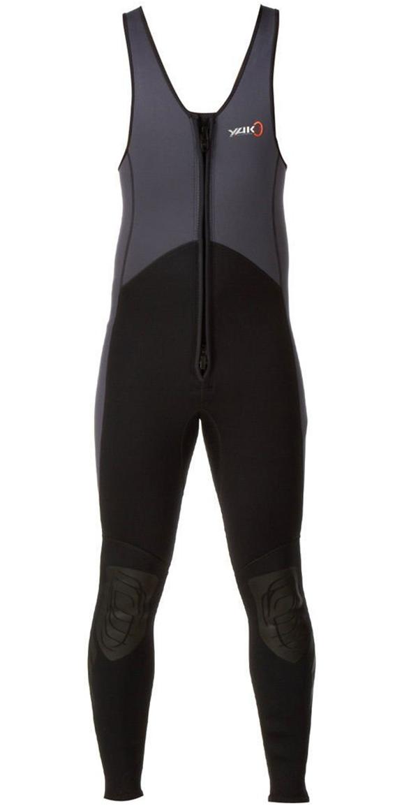 2019 Yak Kayak FRONT ZIP 3mm Long John Wetsuit Grey / Black  5403-A
