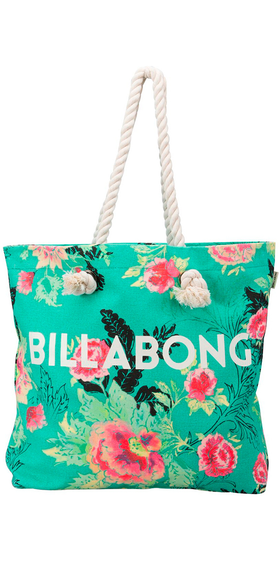 2016 Billabong Essential Canvas Beach Bag Floral W9BG01