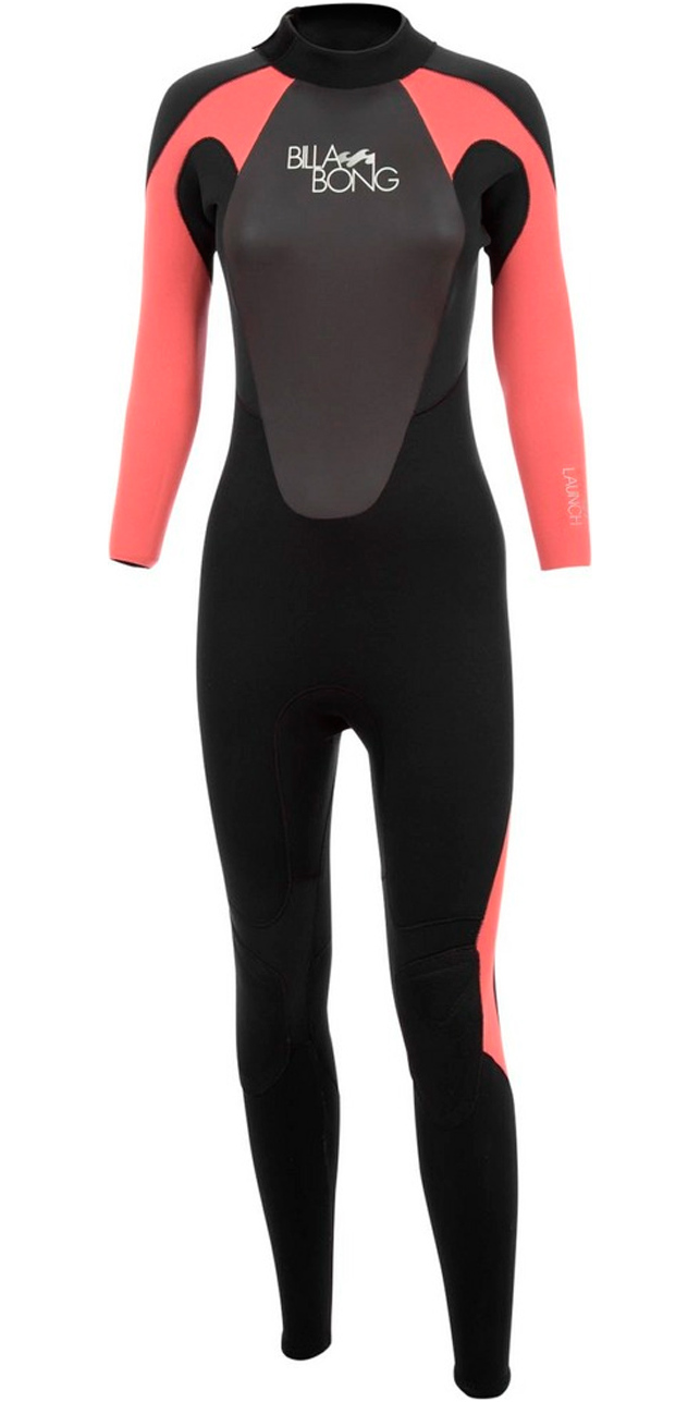 2017 Billabong Ladies Launch 5/4/3mm GBS Wetsuit in Black / CHERRY O45G01/G45G05