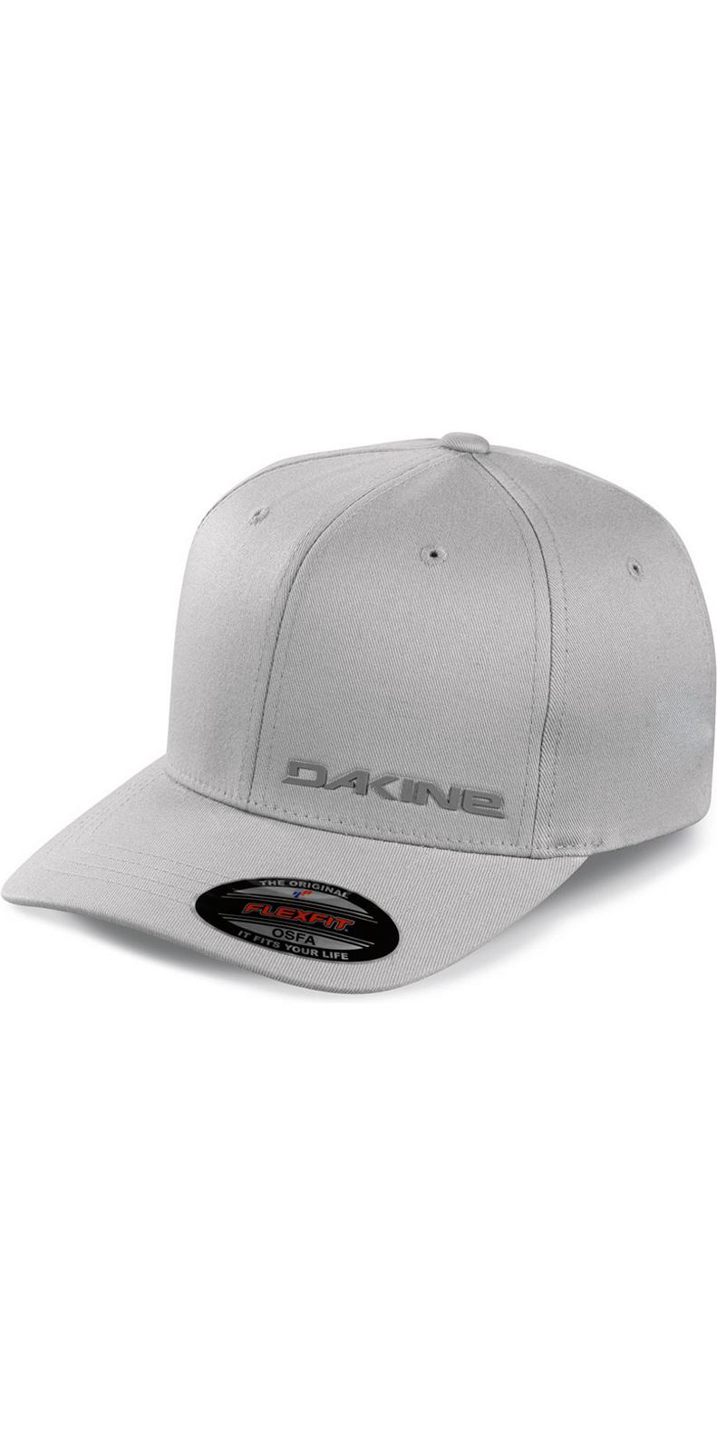 2018 Dakine Silicone Rail Flexfit Cap in Grey 08640040