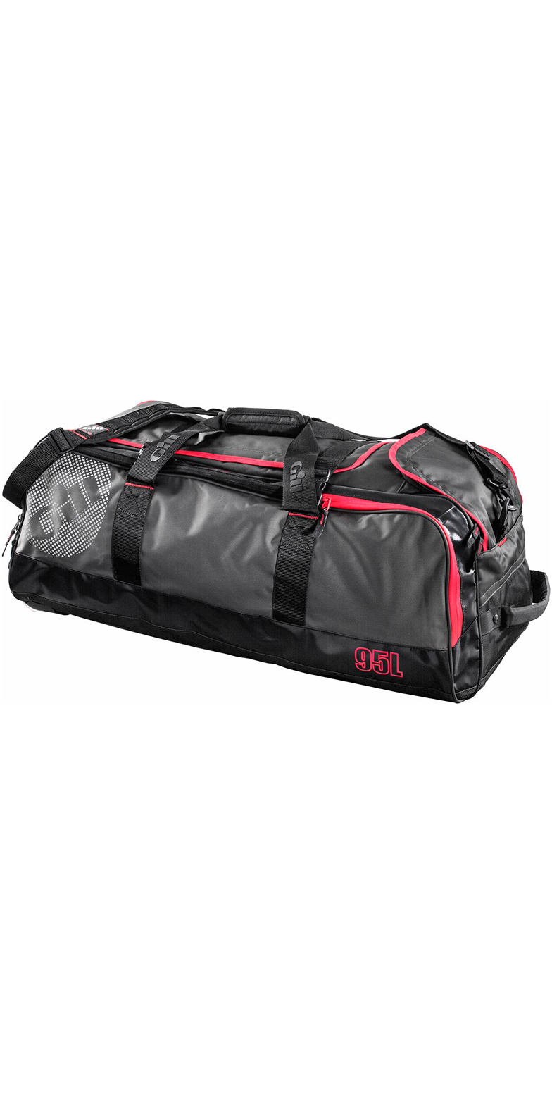 2018 Gill 95L Rolling Cargo Bag Dark Grey / Red Detail L067