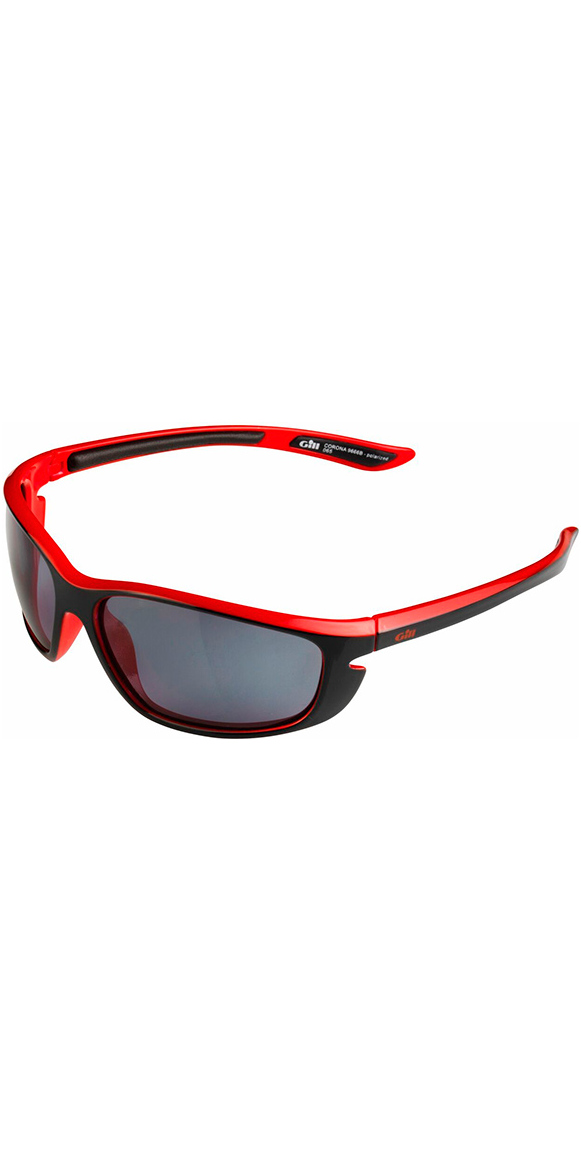 2018 Gill Corona Sunglasses Black / Red 9666