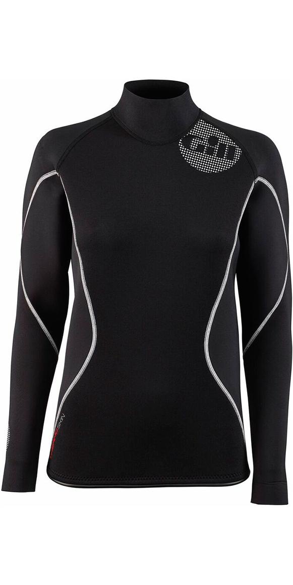 2019 Gill Womens 2.5mm THERMOSKIN Long Sleeve Neoprene TOP Black 4616W