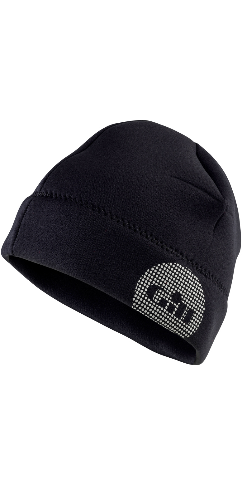2018 Gill Thermoskin 2.5mm Neoprene Beanie in Black 4524