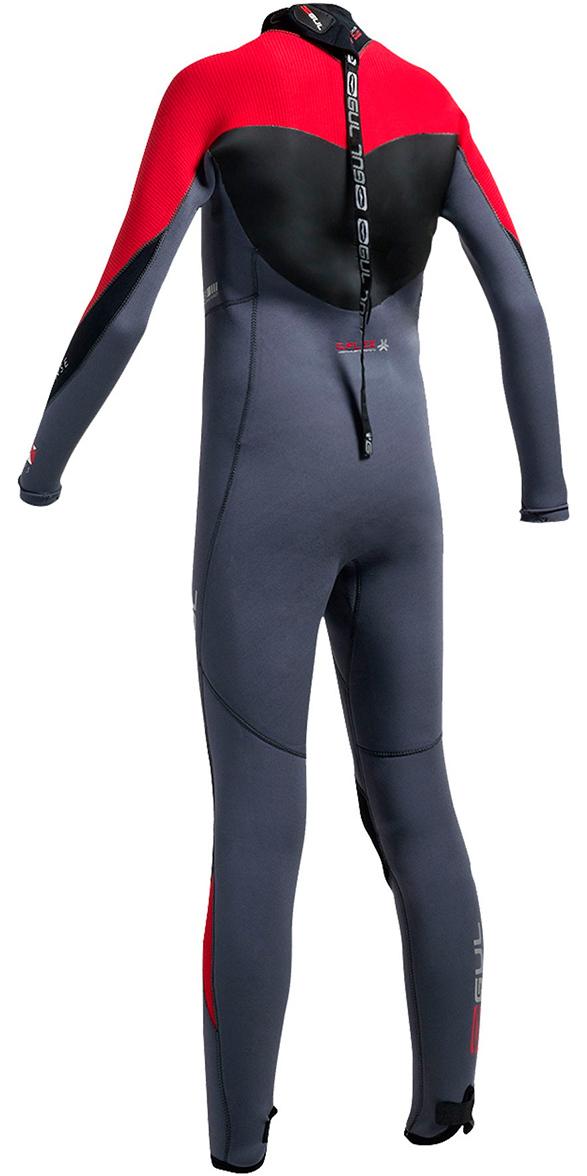 2019 Gul Response 5/3mm Junior Wetsuit Graphite / Red RE1218-B1