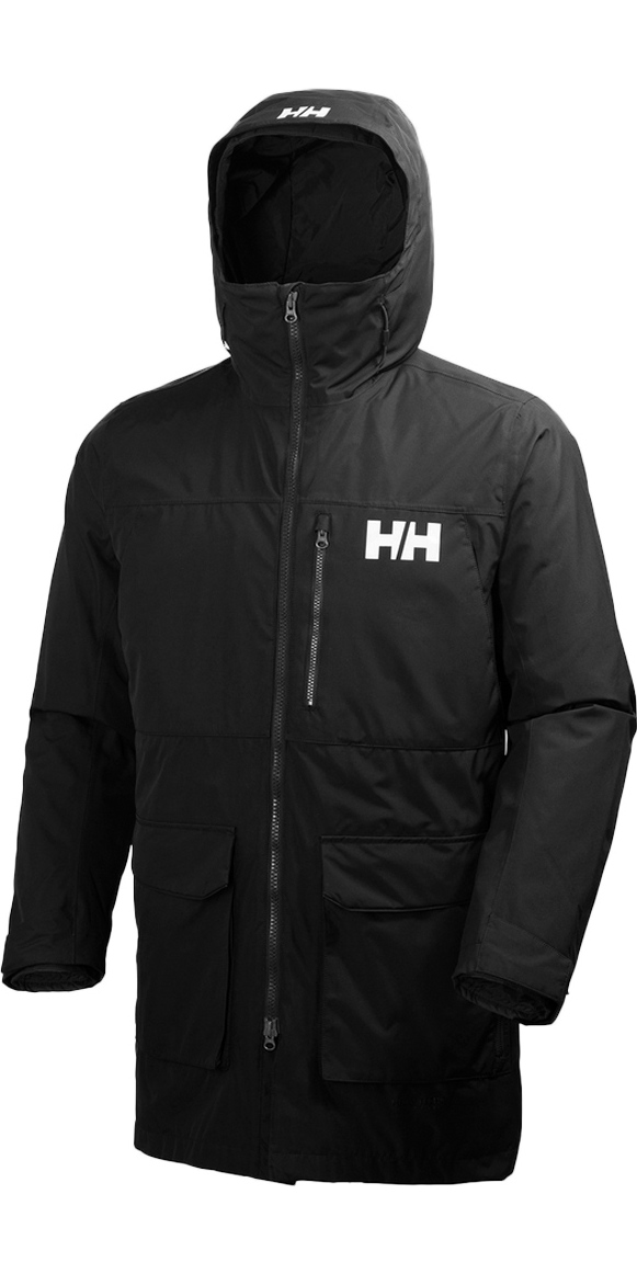 a165535cd5 2019 Helly Hansen Rigging Coat Black 62609 - Helly Hansen Sailing Jackets -  Jackets - Sailing   Wetsuit Outlet