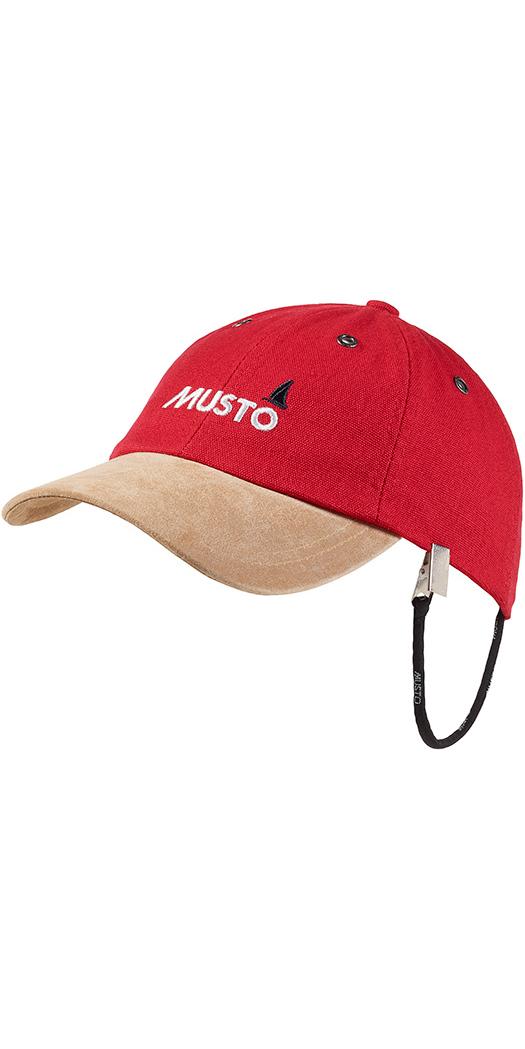 2018 Musto Evo Original Crew Cap in True Red AE0191