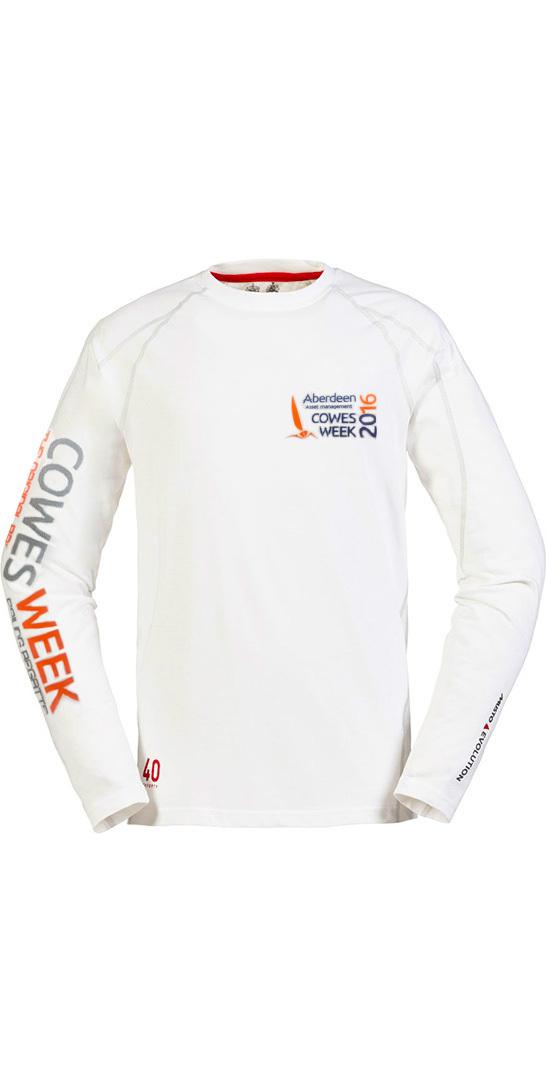 Musto Cowes Week Sunblock Long Sleeve T Shirt White