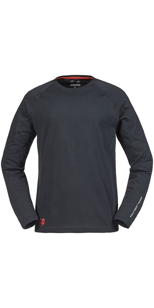 Musto Evolution Sunblock Long Sleeve T Shirt Black Se1550