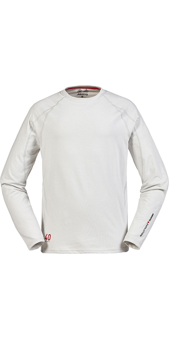 Musto Evolution Sunblock Long Sleeve T Shirt Platinum