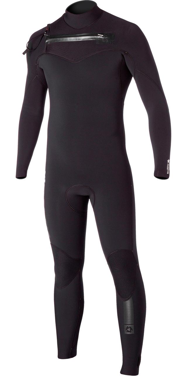 Mystic Majestic 4/3mm Chest Zip Wetsuit - Black 150010