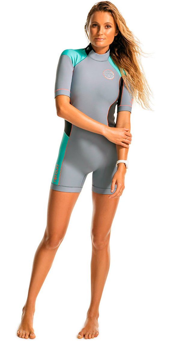 eaade64e80 Rip Curl Dawn Patrol 2mm Back Zip Spring Shorty Wetsuit Turquoise WSP4FW ...
