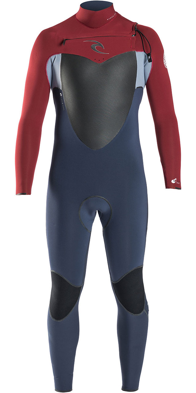 Rip Curl Flashbomb 5/3mm Chest Zip Wetsuit in RED WSU6DF
