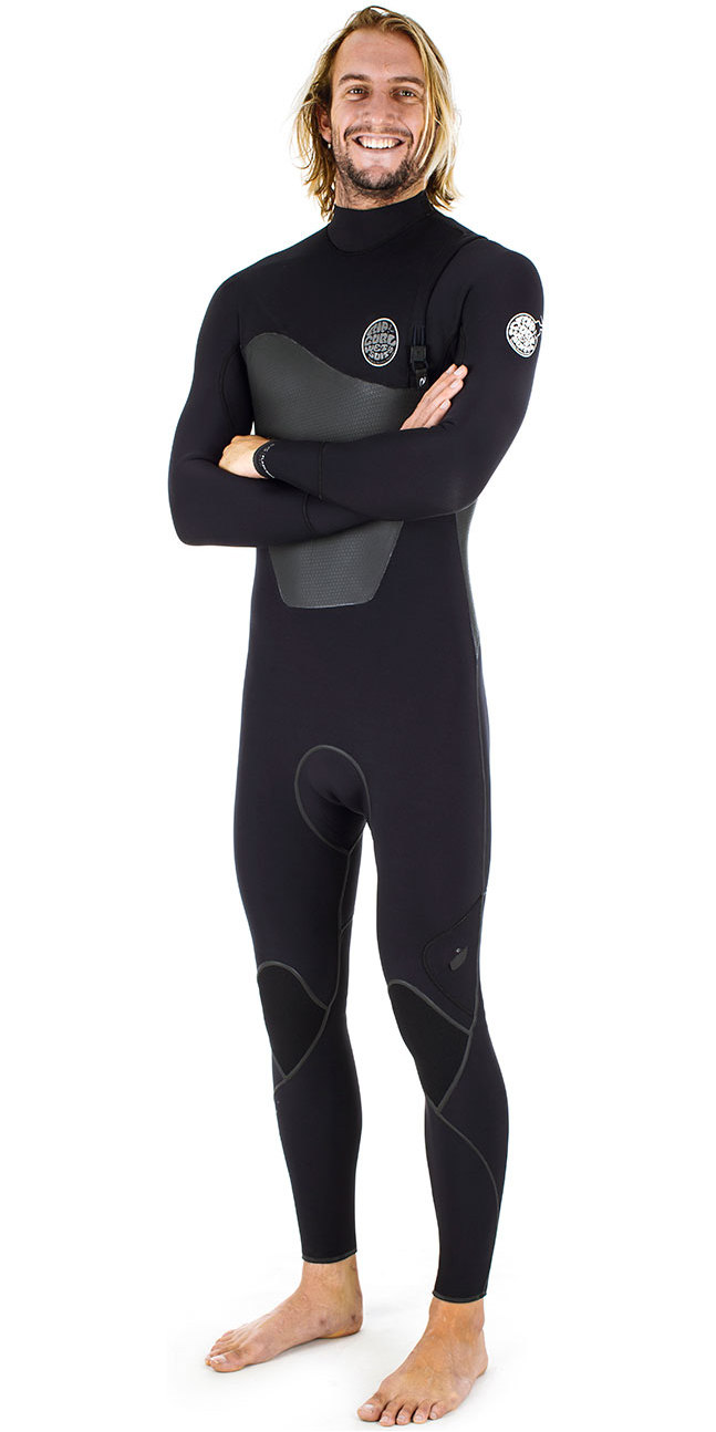 Rip Curl Flashbomb Plus 5/3mm GBS Zip Free Wetsuit BLACK WSM6VF