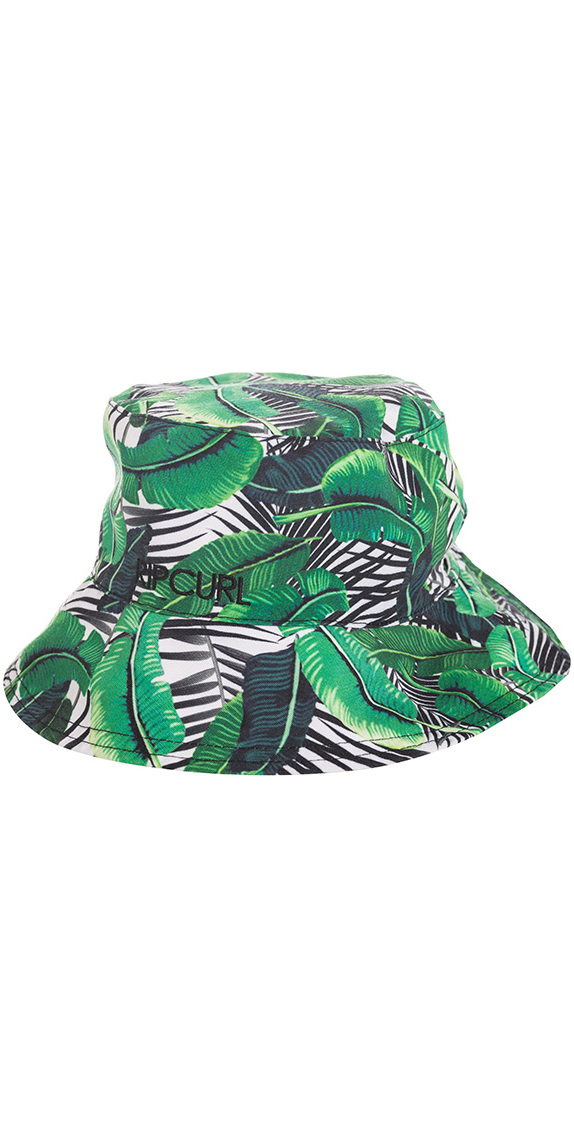 Rip Curl Island Palms Revo Reversible Bucket Hat White Green Ghacj1 -  Ghacj1 - Technical Hats Caps  359fd4a9489