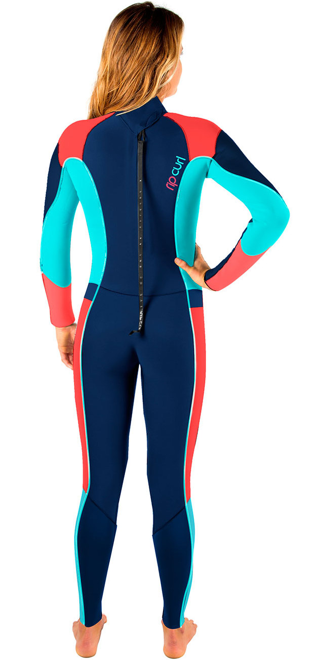 Rip Curl Womens Dawn Patrol 3 2mm Gbs Back Zip Wetsuit Navy Wsm6gw ... 335710ce1