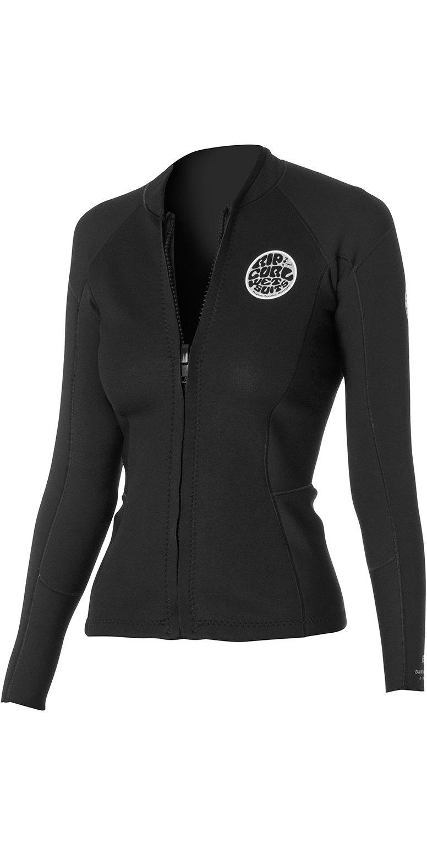 Rip Curl Womens Dawn Patrol 1 5mm Long Sleeve Neo Jacket Black Wve4bw -  Wve4bw - Womens Neoprene Tops  3458d12f6a