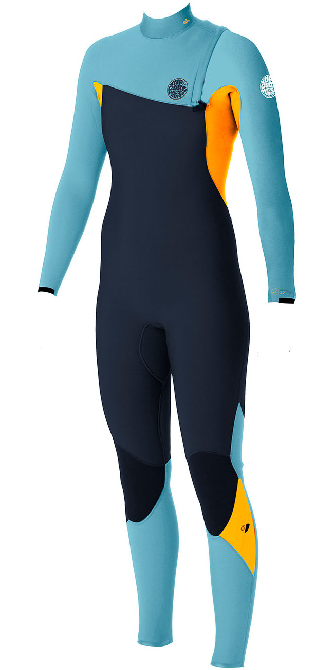 Rip Curl Womens G-bomb 4 3mm Gbs Zip-free Wetsuit Slate Orange ... 55cf92749