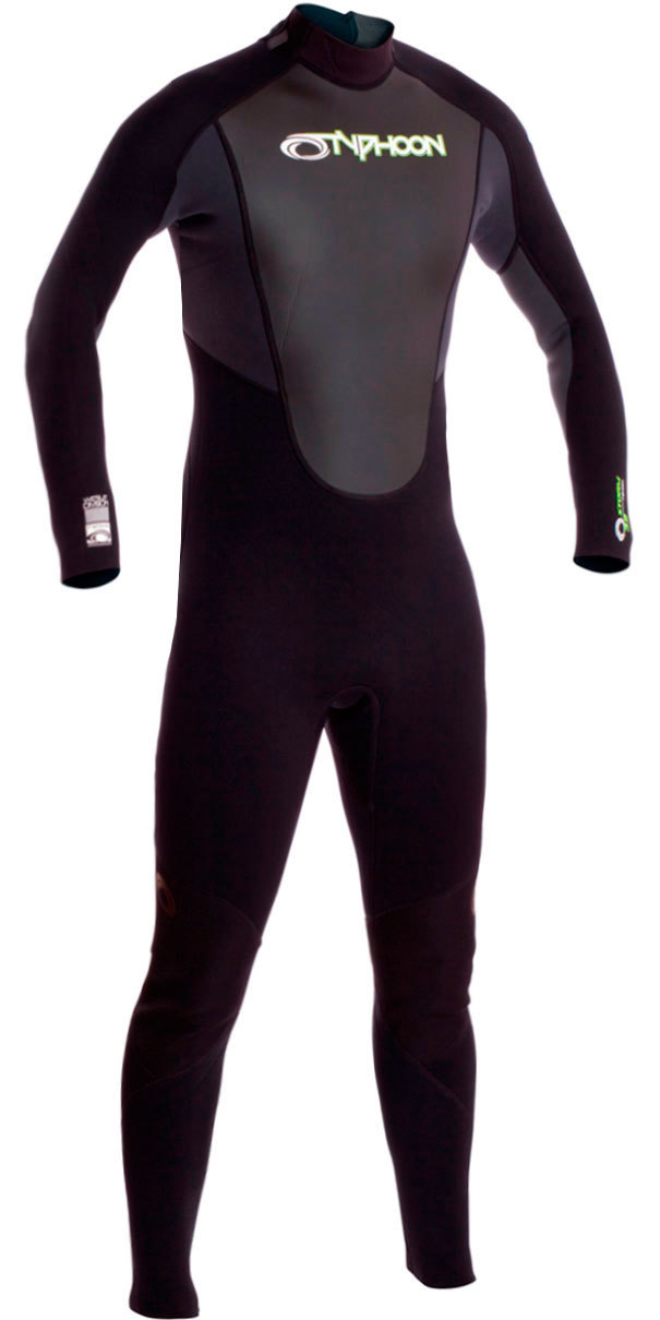 2018 Typhoon Junior Storm 3/2mm Flatlock Wetsuit Graphite 250921