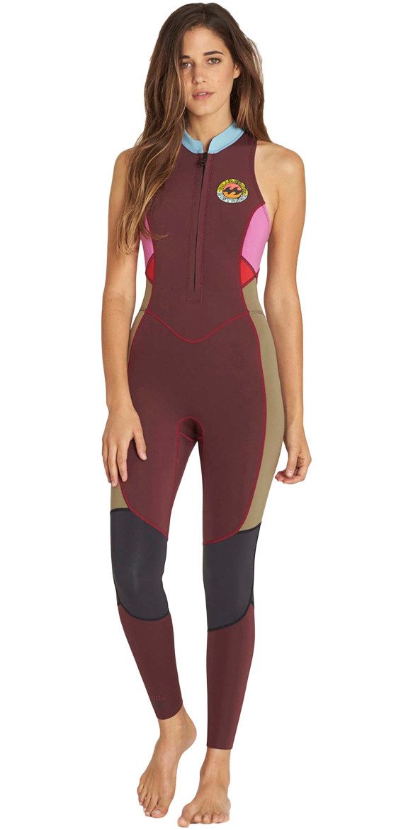 2018 Billabong Ladies Salty Jane 2mm Sleeveless Wetsuit MULBERRY F42G01