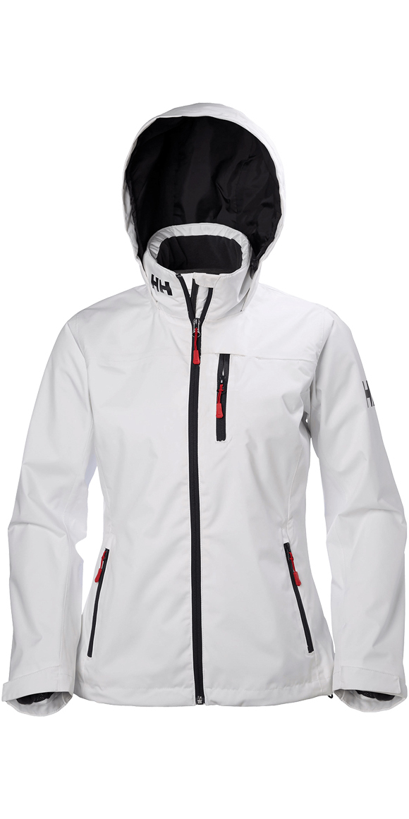 83ce8f48a 2019 Helly Hansen Womens Hooded Crew Mid Layer Jacket White 33891