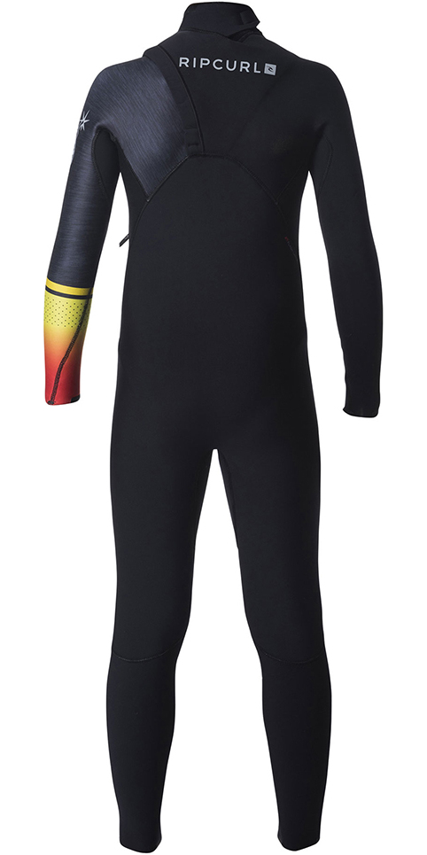 Rip Curl Junior Flashbomb 4/3mm Zip Free Wetsuit ORANGE WSM7MS