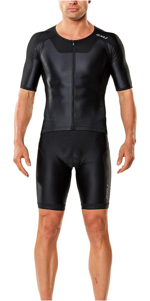 2017 2XU X-Vent Full Zip Trisuit BLACK / BLACK MT4355D