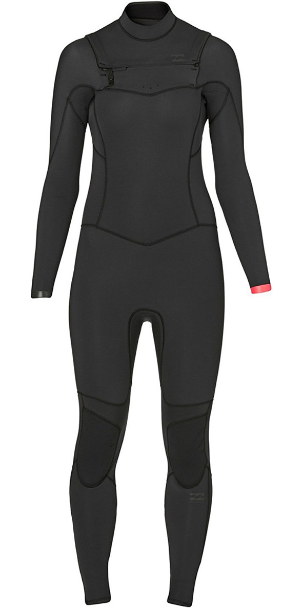 2017 Billabong Ladies Synergy 5/4mm Chest Zip Wetsuit in Black Sands Z45G02