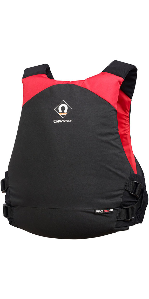 2019 Crewsaver Junior Pro 50N Chest Zip Buoyancy Aid Black / Red 2630J
