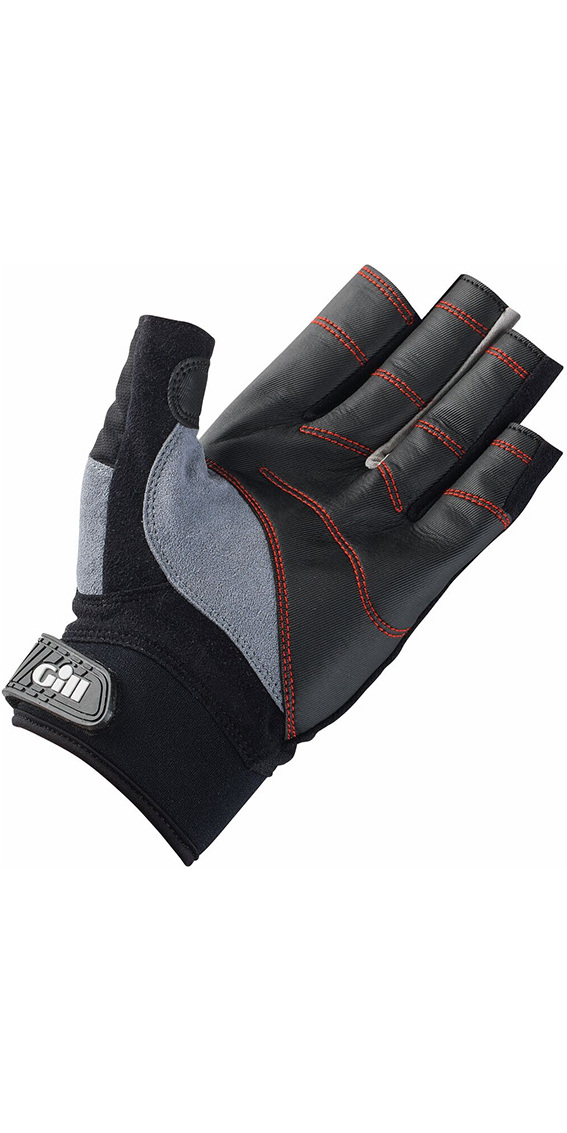 2020 Gill Championship Short Finger Sailing Gloves Black 7242