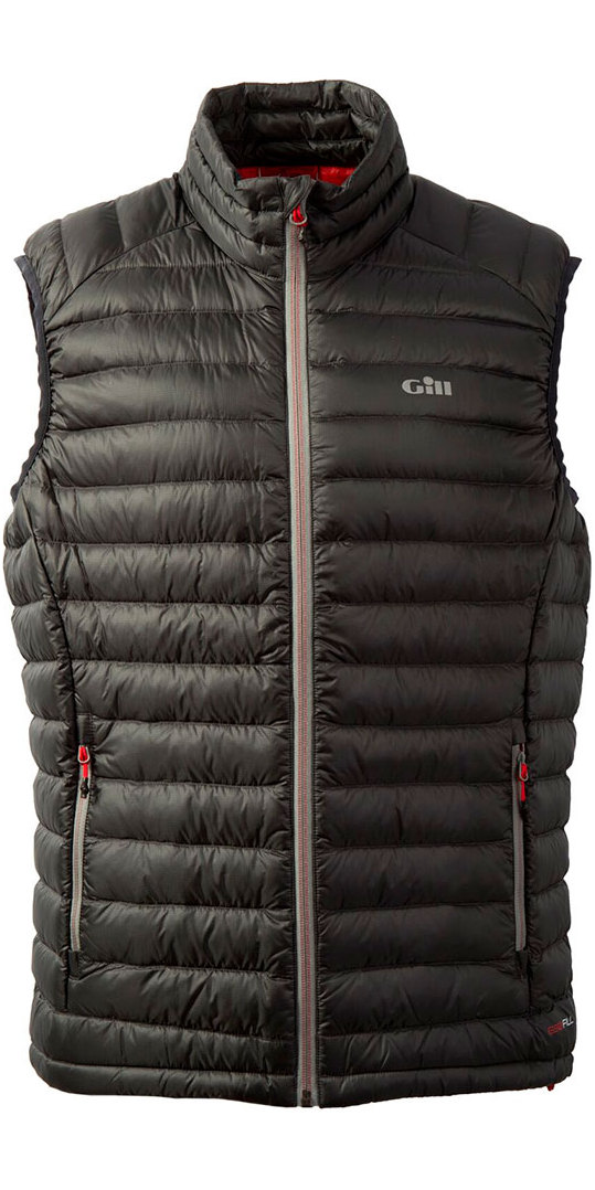 2019 Gill Mens Hydrophobe Down Gilet Charcoal 1063