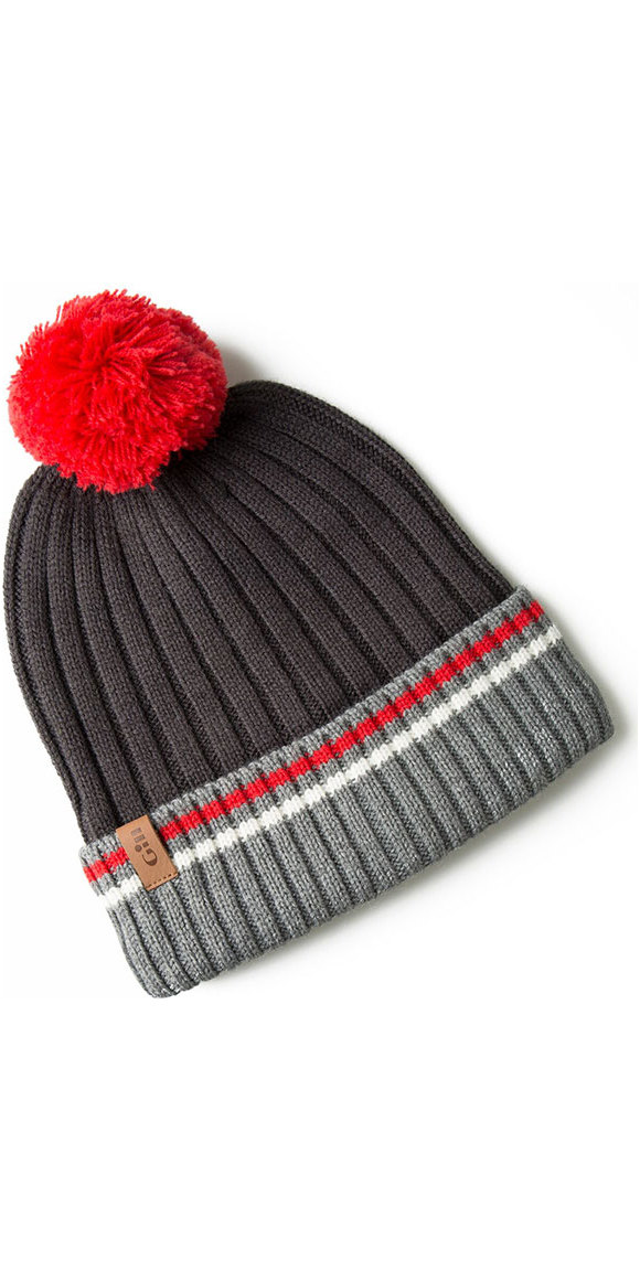 2019 Gill Offshore Knit Beanie Graphite / Red HT40