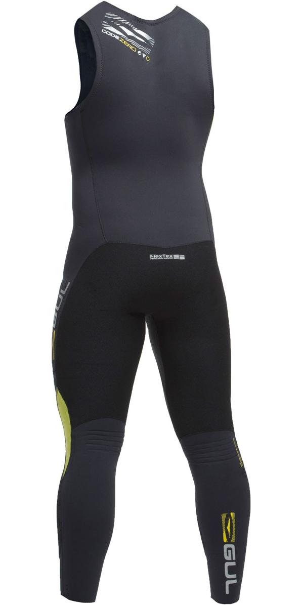 2019 Gul Code Zero 3mm Long John Wetsuit BLACK CZ4207-B2