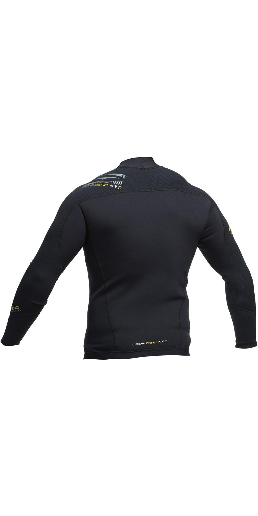 2019 Gul Code Zero 3mm Long Sleeve Thermo Top & Long John Combi Set Black