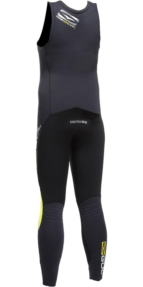 2019 Gul Junior Code Zero 3mm Long John Wetsuit BLACK / BLACK CZ4214-B2