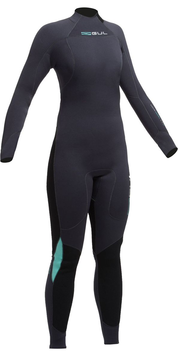2019 Gul Womens Code Zero 4/3mm Back Zip Wetsuit JET CZ1202-B2