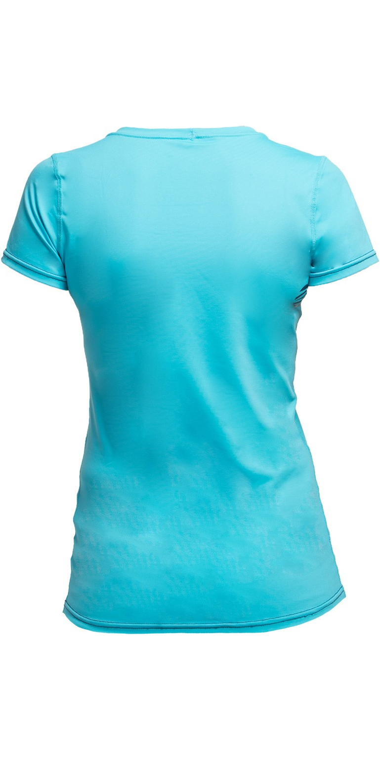 Gul Womens Tee Fit Short Sleeve Rash Vest TURQUOISE RG0367-B2