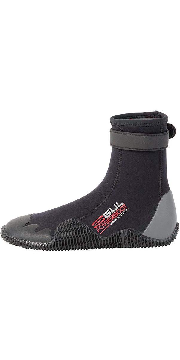 2018 Gul Power 5mm Round Toe wetsuit Boot Black / Grey BO1263