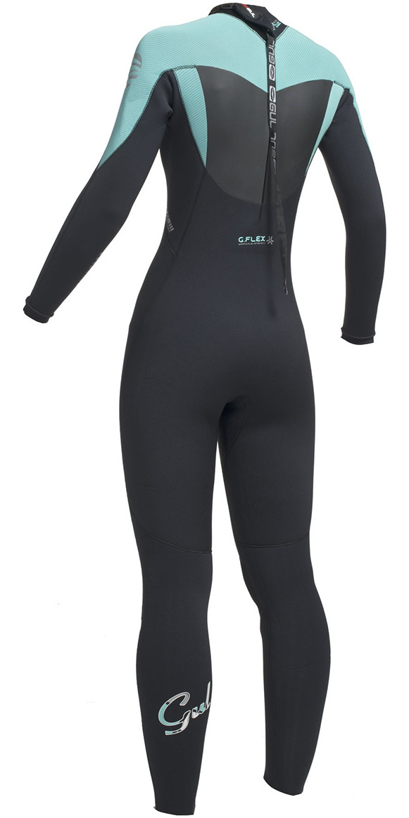 2018 Gul Response Ladies 5/3mm GBS Back Zip Wetsuit Black / Pistachio RE1229-B1