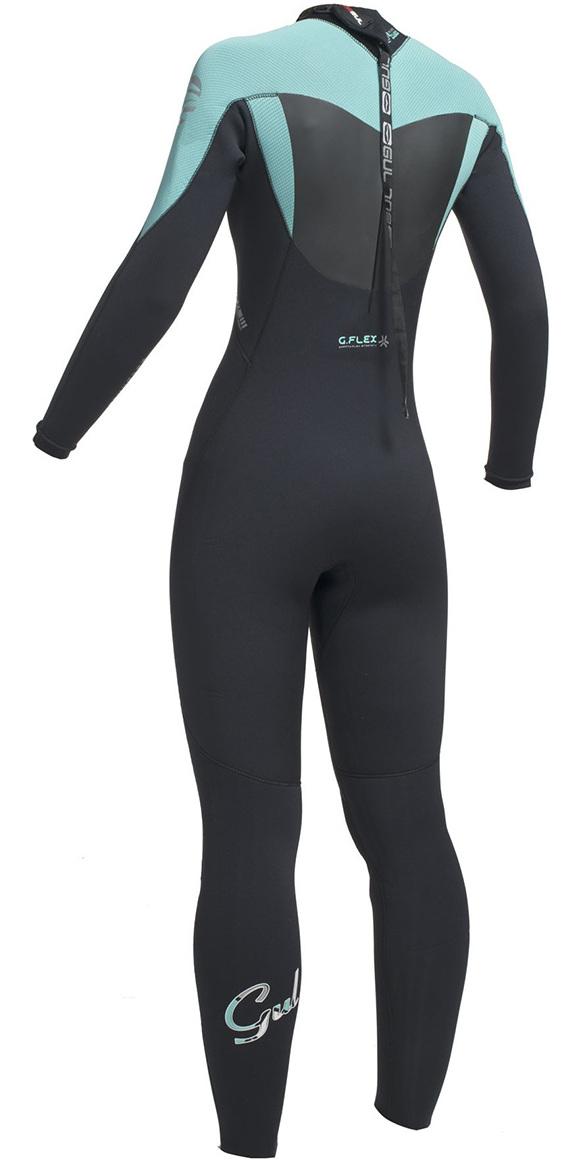 Gul Response Womens 5/3mm GBS Back Zip Wetsuit Black / Pistachio RE1229-B1