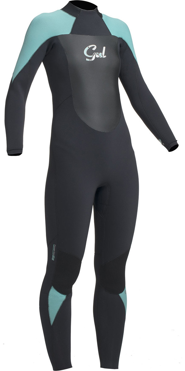 2017 Gul Response Ladies 5/3mm GBS Back Zip Wetsuit Black / Pistachio RE1229-B1