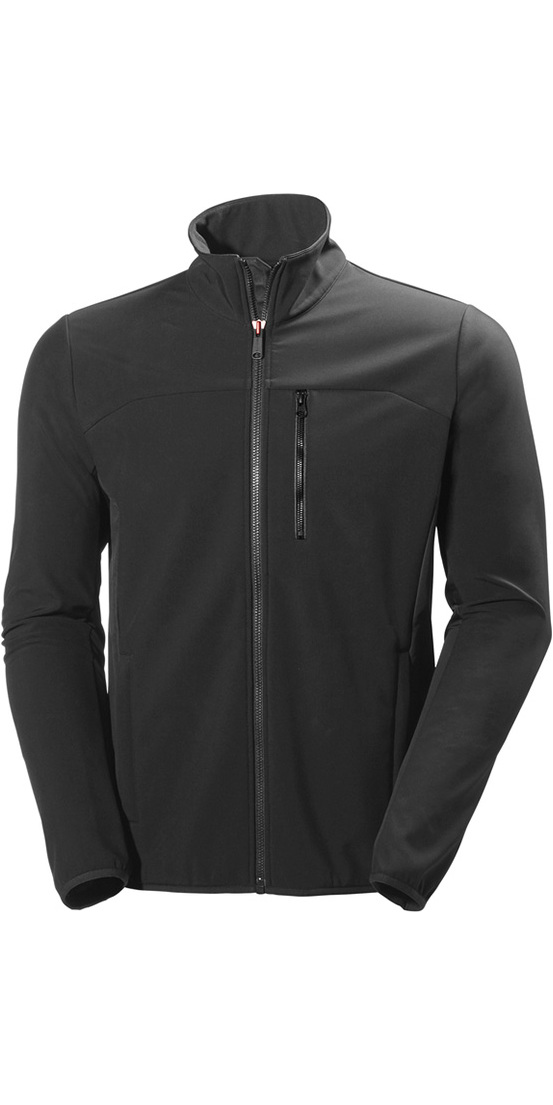 2018 helly hansen crew softshell jacket in ebony 54412 54412 middle layer sailing yacht. Black Bedroom Furniture Sets. Home Design Ideas