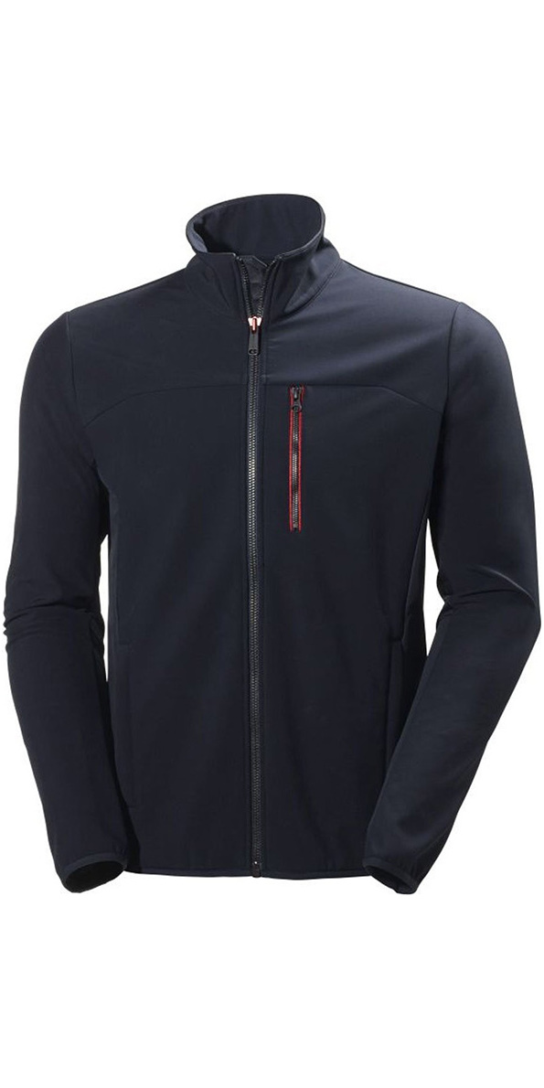 2018 helly hansen crew softshell jacket in navy 54412 54412 middle layer sailing yacht by. Black Bedroom Furniture Sets. Home Design Ideas